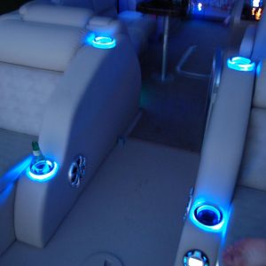 Blue Ice LED cupholders