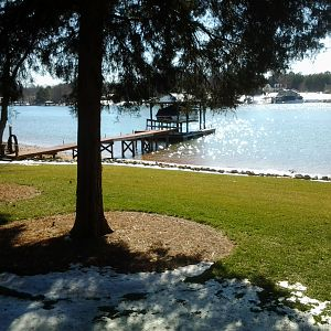 lake 3 days after snow 2014