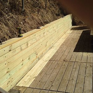 Rear retaining wall on deck