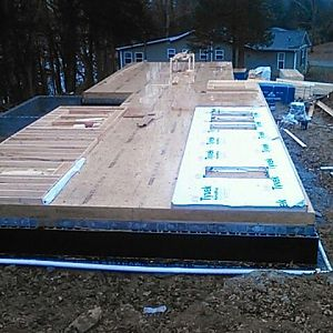 Subfloor down Walls getting framed