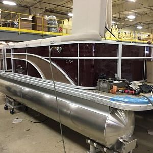 New boat at factory