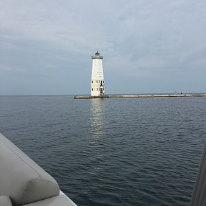 Lighthouse on Lake Michigan - Frankfort Michigan