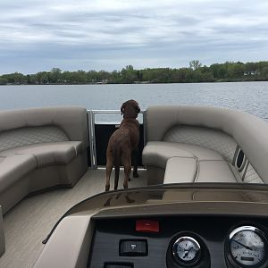 First time on the lake with the new Benny.