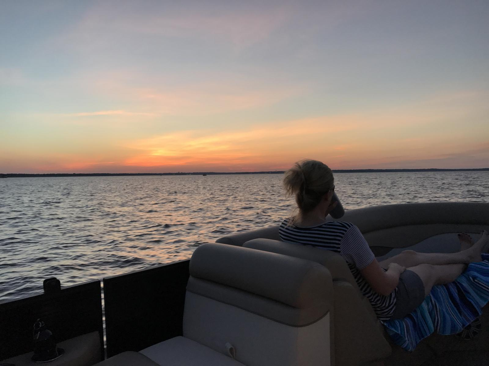 Our Thursday evening sunset cruise.